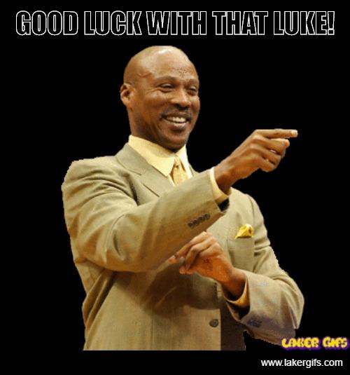 Byron Scott wishing Luke Walton Luck