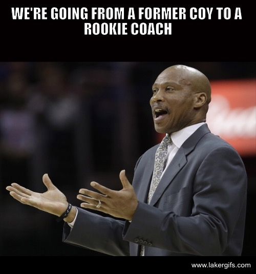 Byron Scott former Coach of the Year replaced by rookie coach Byron Scott gif