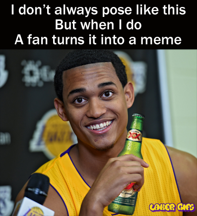 jordan clarkson is dos equis guy most interesting man in the world