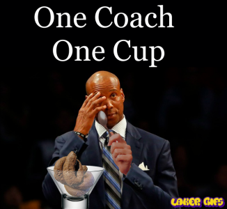 Byron Scott Laker Coach One Cup One Coach poop crappy coach