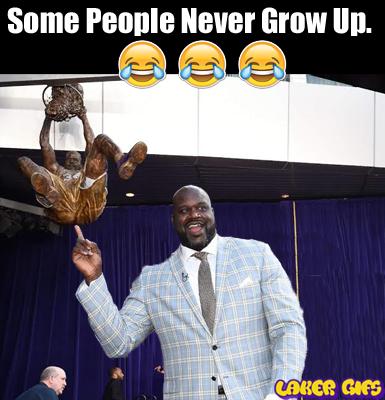 Shaq never grow up
