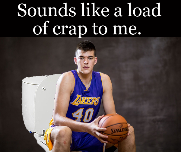 Lakers Ivica Zubac says load of crap